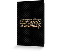 """Sometimes you will... """"Dr. Seuss"""" Inspirational Quote Greeting Card"""