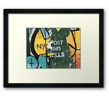 Post No Bills #1 Framed Print