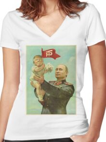 Trump Putin Women's Fitted V-Neck T-Shirt