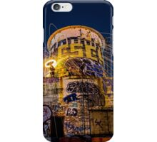 Raining fire at the water tower. iPhone Case/Skin
