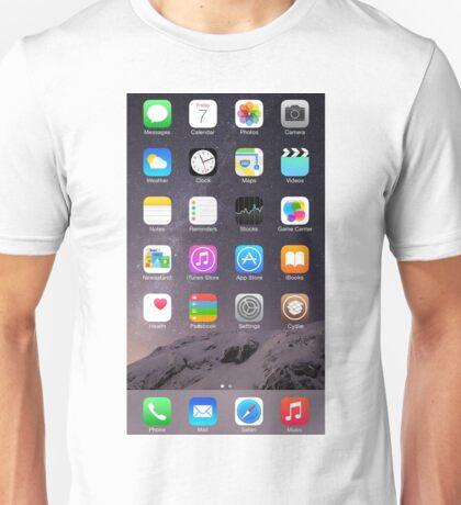 iPhone Homescreen Unisex T-Shirt