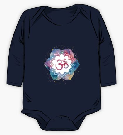 Om Sign Lotus One Piece - Long Sleeve