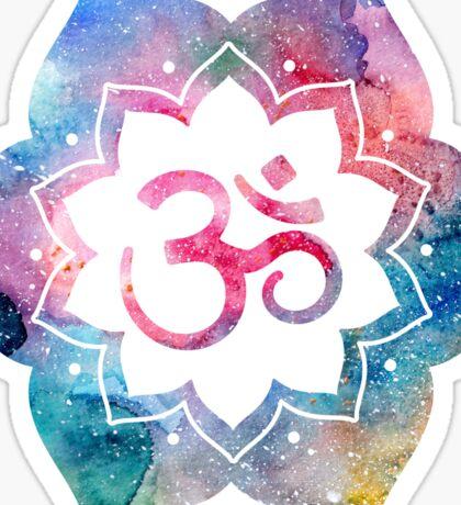 Om Sign Lotus Sticker