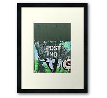 Post No Bills #2 Framed Print