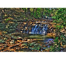 Waterfall, South Elgin Illinois Photographic Print