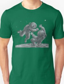 Astronaut Fistfight - Angry Space Men Fight On a Distant Moon or Planet, Far From Their Spaceship Unisex T-Shirt