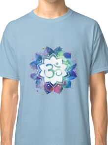 Om Sign Lotus Flower Classic T-Shirt