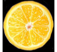 Orange Pastel Drawing Photographic Print
