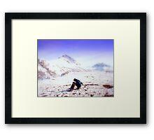 Camping at Matanuska Glacier Framed Print