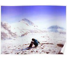 Camping at Matanuska Glacier Poster