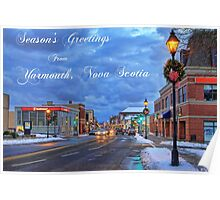 Season's Greetings from Yarmouth Nova Scotia Poster