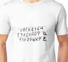 alphabet lamp of stranger things  Unisex T-Shirt