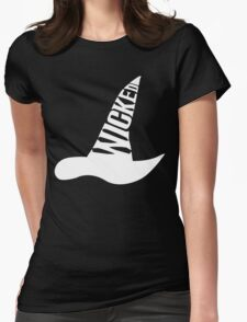 Wicked - in White Womens Fitted T-Shirt