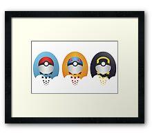 Pokemon Pokeball Set Framed Print