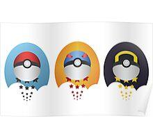 Pokemon Pokeball Set Poster