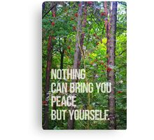 NOTHING CAN BRING YOU PEACE BUT YOURSELF Canvas Print