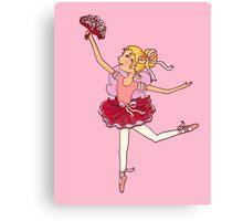 Ballerina ballet girl blonde hair dancer Canvas Print