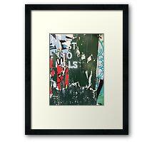Post No Bills #3 Framed Print