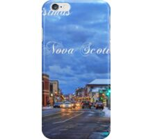 Merry Christmas from Yarmouth Nova Scotia iPhone Case/Skin
