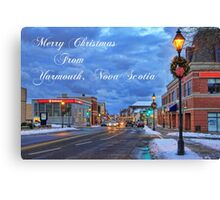 Merry Christmas from Yarmouth Nova Scotia Canvas Print