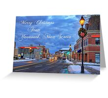 Merry Christmas from Yarmouth Nova Scotia Greeting Card