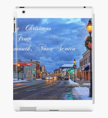 Merry Christmas from Yarmouth Nova Scotia iPad Case/Skin