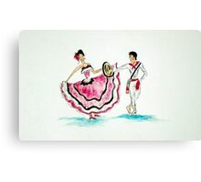 Colombian Traditional Dance Canvas Print