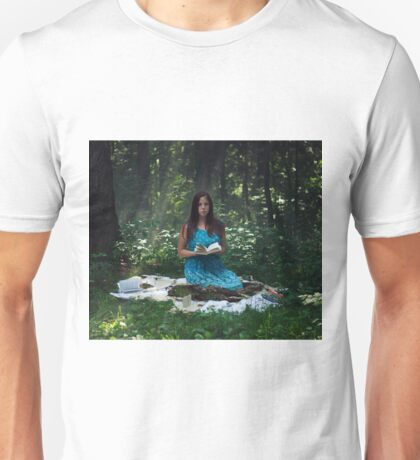 Girl with books Unisex T-Shirt