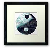 Yin Yang Oceans Framed Print