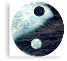 Yin Yang Oceans Canvas Print