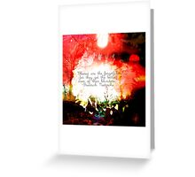 Blessed Are The Forgetful Greeting Card