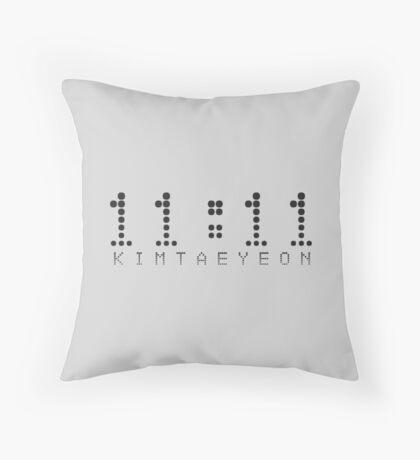 11:11 taeyeon Throw Pillow