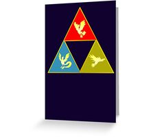Kanto's Legendary Triforce 2.0 Greeting Card