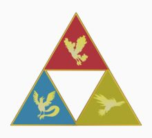 Kanto's Legendary Triforce 2.0 Kids Clothes