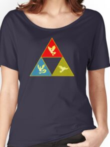 Kanto's Legendary Triforce 2.0 Women's Relaxed Fit T-Shirt