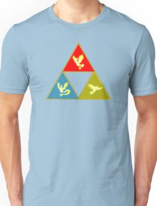 Kanto's Legendary Triforce 2.0 Unisex T-Shirt
