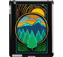 Vintage Summer Sunset By The Pines Mountain Adventure iPad Case/Skin