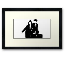 Newt and Tina Silhoute  Framed Print