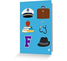 Catch Me If You Can Musical (large icons) Greeting Card