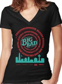 Big Bad Sunnydale Women's Fitted V-Neck T-Shirt