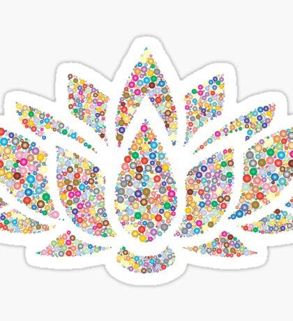 Multicolored Lotus Sticker