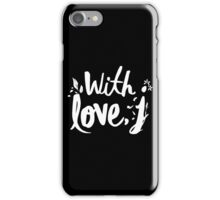 love with J iPhone Case/Skin