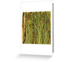 Qualia's Grass (Antique Yellow) Greeting Card