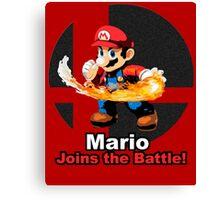Mario Joins the Battle! Canvas Print