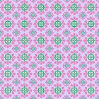 Lovely Lilac with Pink and Green Pattern by Greenbaby