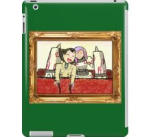 Tron Bonne and Mega Man Juno have a sleigh ride. (UNOFFICIAL) iPad Case/Skin