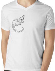 Sugar Skull Possum Mens V-Neck T-Shirt