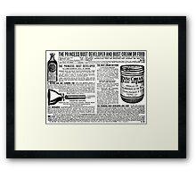 Vintage Ad - Bust / Breast Developer Framed Print