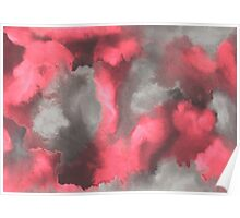 Watercolor wash clouds Poster