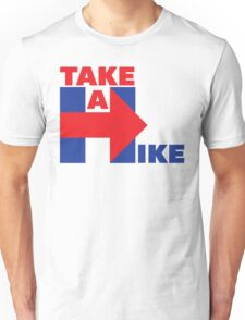 Take A Hike (Red/Blue) Unisex T-Shirt